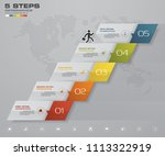 5 steps staircase infographic... | Shutterstock .eps vector #1113322919