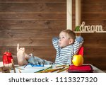home education concept. back to ... | Shutterstock . vector #1113327320