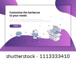 choose a barbecue for your... | Shutterstock .eps vector #1113333410