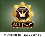golden badge w golden badge... | Shutterstock .eps vector #1113335468