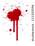 blood drips | Shutterstock . vector #111333596