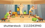 vector changing room with... | Shutterstock .eps vector #1113343940