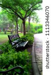 beautiful alloy bench in the... | Shutterstock . vector #1113346070
