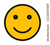 smiling face emoticon | Shutterstock .eps vector #1113347069