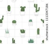 seamless pattern hand drawn... | Shutterstock .eps vector #1113347186