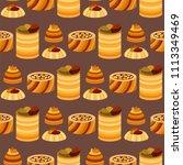 east delicious dessert sweets... | Shutterstock .eps vector #1113349469