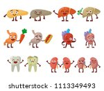 human organs healthy and... | Shutterstock .eps vector #1113349493