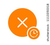 cancel icon  signs icon with...   Shutterstock .eps vector #1113350318