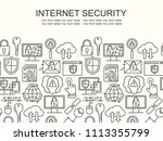 vector line style seamless... | Shutterstock .eps vector #1113355799