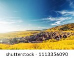 scenic autumn mountain... | Shutterstock . vector #1113356090