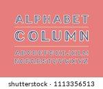 column color font. vector... | Shutterstock .eps vector #1113356513