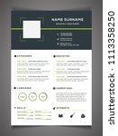 resume template can be use as...   Shutterstock .eps vector #1113358250
