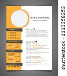 resume template can be use as... | Shutterstock .eps vector #1113358253