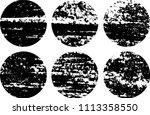 set of grunge textures in black ... | Shutterstock .eps vector #1113358550