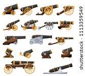 Set Vintage Gun. Color Image O...