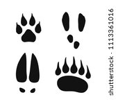 wild animals footprints set ... | Shutterstock .eps vector #1113361016
