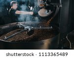 professional male roaster... | Shutterstock . vector #1113365489