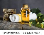 linden blossoms hair shampoo in ... | Shutterstock . vector #1113367514