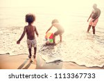 african family enjoying the... | Shutterstock . vector #1113367733