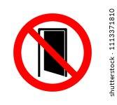 no entry sign vector icon. | Shutterstock .eps vector #1113371810