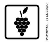 grapes vector icon. | Shutterstock .eps vector #1113378500