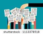 applying for job  giving cv ... | Shutterstock .eps vector #1113378518