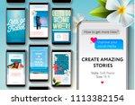 social media story templates... | Shutterstock .eps vector #1113382154