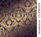 vector illustration. damask ... | Shutterstock .eps vector #1113383333