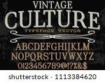font alphabet script typeface... | Shutterstock .eps vector #1113384620