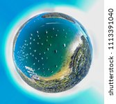 Little Planet Sphere Sailing Boats - Fine Art prints