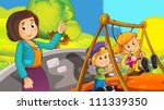 time at the playground  ... | Shutterstock . vector #111339350