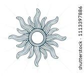 sun. sun hand drawn vector...   Shutterstock .eps vector #1113397886