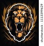 roaring lion head mascot ...