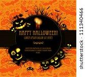 halloween vector card  or... | Shutterstock .eps vector #111340466