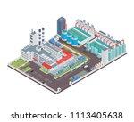 modern isometric industrial...   Shutterstock .eps vector #1113405638