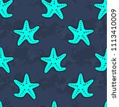 cute kids starfish pattern for... | Shutterstock . vector #1113410009