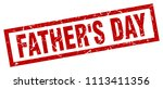 square grunge red father's day... | Shutterstock .eps vector #1113411356