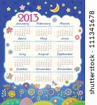 Calendar For 2013. Cloud In Th...