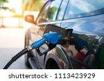 fuel oil gasoline dispenser at... | Shutterstock . vector #1113423929