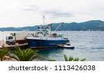 fishing ship on the adriatic...   Shutterstock . vector #1113426038