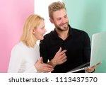 amazing project. man presenting ...   Shutterstock . vector #1113437570