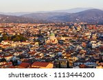 elevated view of the dome of... | Shutterstock . vector #1113444200