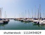 luxury boats  in puerto... | Shutterstock . vector #1113454829