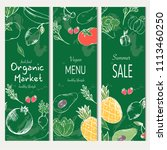 healthy food banner collection. ... | Shutterstock .eps vector #1113460250