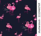 Watercolor Exotic Flamingo...