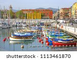 nice  france  16 apr 2018  view ... | Shutterstock . vector #1113461870