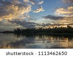 twilight sky after rain and...   Shutterstock . vector #1113462650