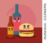kawaii food design | Shutterstock .eps vector #1113466496