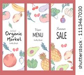 healthy food banner collection. ... | Shutterstock .eps vector #1113467030