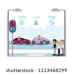 driver safely campaign label | Shutterstock .eps vector #1113468299
